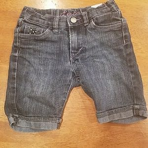 Little girls jean shorts.